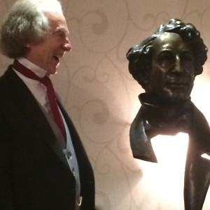 John is delighted with his likeness!
