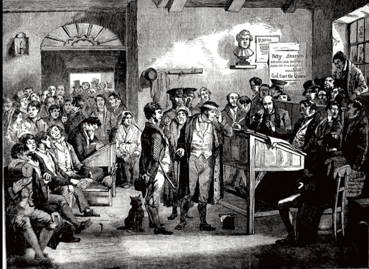 Petty Sessions or Magistrate's Court in C19th Courtesy of findmypast.com