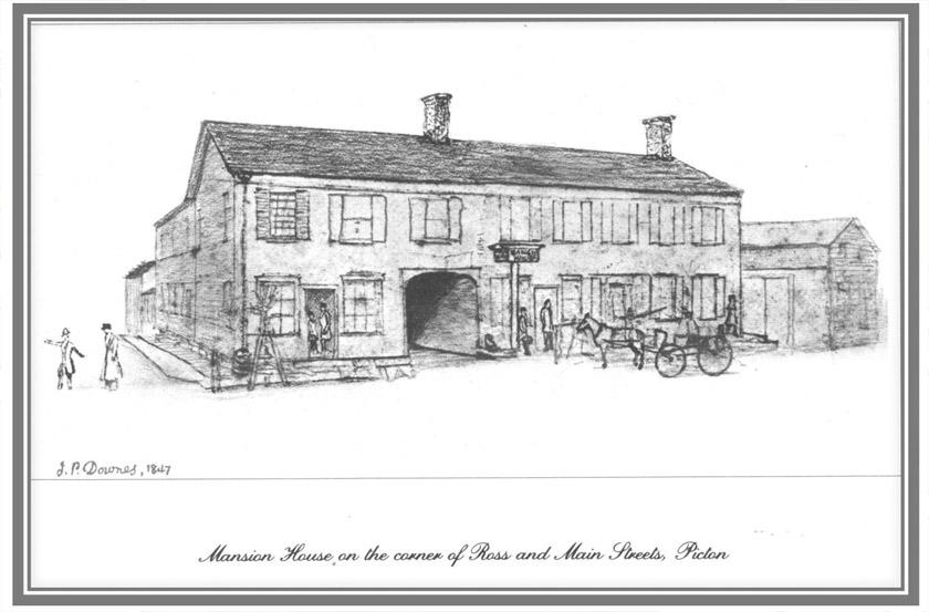 John Pepper Downes, 1847 sketch courtesy of Prince Edward Historical Society