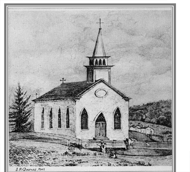 John Pepper Downes' sketch 1847 Courtesy of the Prince Edward Historical Society